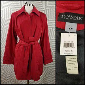 NEW Towne London Fog Size XL Trench Coat jacket